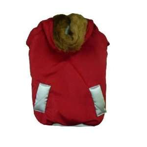 Red Dog Puppy Pet Clothes Jacket Coat Hoodie   Small