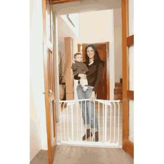 L170W Hallway Swing Closed Security Gate Value Package  White Baby
