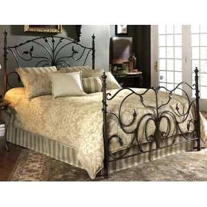 Wisteria Stone Finish Full Size Iron Metal Bed