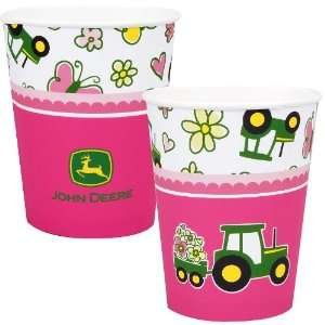 John Deere Pink 9 oz. Paper Cups (8) Party Supplies Toys & Games