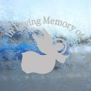 In Loving Memory Angel Gray Decal Truck Window Gray