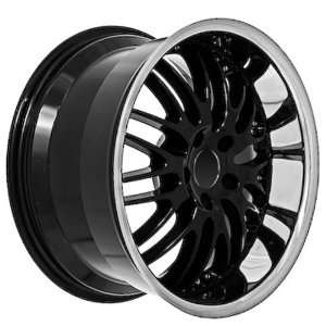 18 Black Mercedes Benz Wheels Rims Chrome Lip (set of 4
