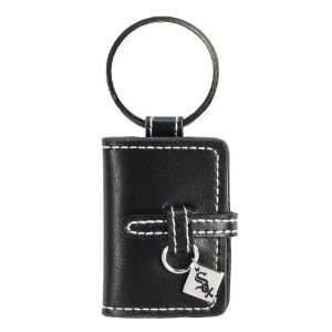 White Sox   MLB Black Leather Photo Album Key Ring
