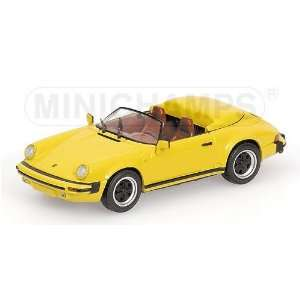 911 Speedster 1988 Yellow 1/43 Scale Diecast Model Toys & Games