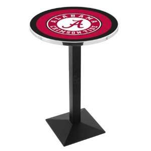 of Alabama A Bar Height Pub Table   Square Base   NCAA