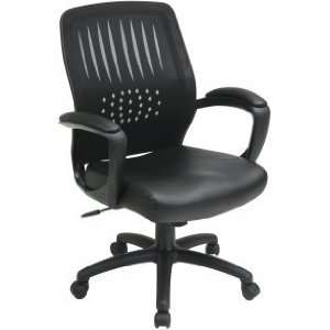 Back Designer Shell Chair With Faux Leather Seat