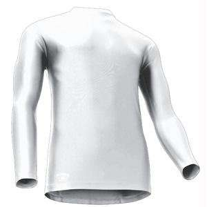 Tight Fit Compression Long Sleeve Mock, Large, White
