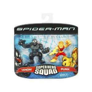 Spiderman Super Hero Squad 2 Pack   Puma and amp; Venom  Toys & Games