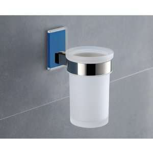 Glass Toothbrush Holder With Blue Mounting 7810 05