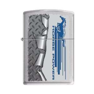 Zippo Ford Mustang Horse Power Brushed Chrome Lighter