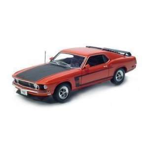 18 1969 Ford Mustang Boss 302 Diecast Model Car RED by Welly  Toys