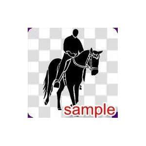 ANIMAL HORSE RIDER 1 WHITE VINYL DECAL STICKER Everything