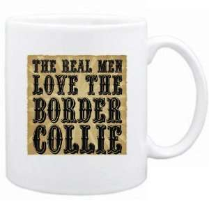 New  The Real Men Love The Border Collie  Mug Dog