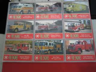Fire Engines Series Three Complete Set W/ Binder 1994