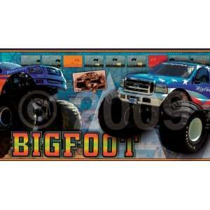 BigFoot Monster Truck Wallpaper Border