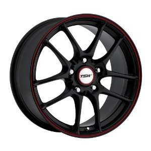 Black w/ Red Stripe) Wheels/Rims 5x120 (1780TRC405120B76) Automotive