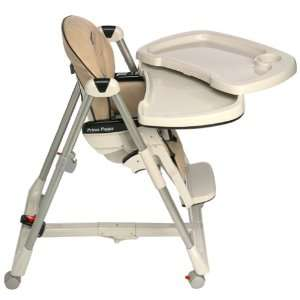 Peg Perego Prima Pappa Multi Position Leatherette High Chair   Tan