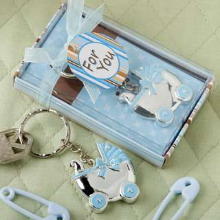 30)Baby Carriage Shower Favors Blue Boy Stroller