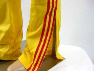 Originals Superstar Mens Large L Track Pants Bottoms Yellow Red Soccer